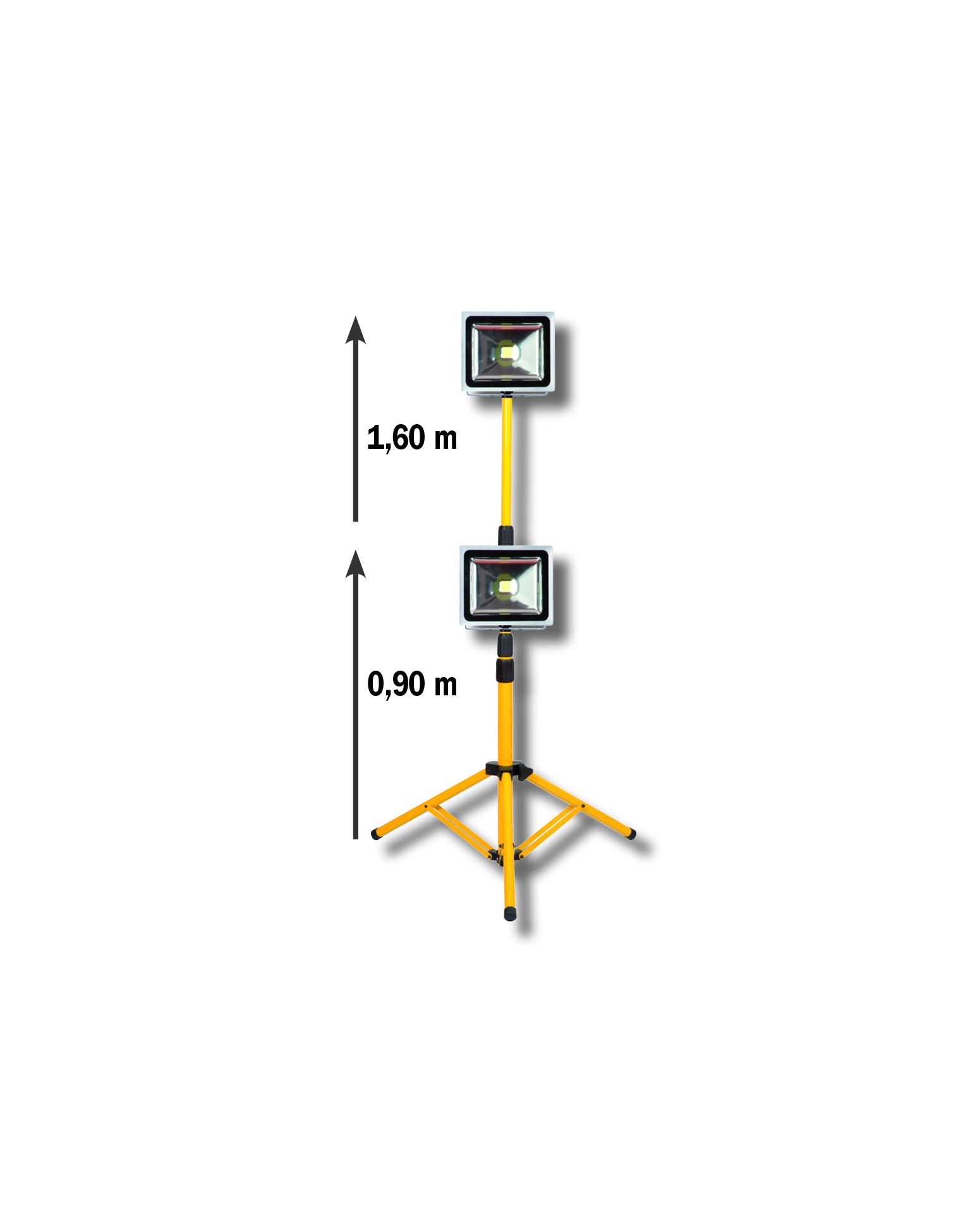 Projecteur led 30w sur tr pied 2160 lumens brico diffusion - Projecteur led brico depot ...