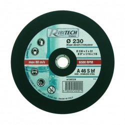Disques Plats à Tronçonner Inox Centre 22,2mm