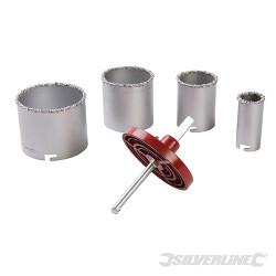 Coffret de scies-cloches en carbure de tungstène 6 pcs ø 33 - 83 mm