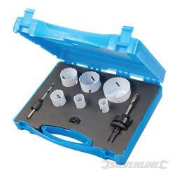 Coffret plombier scies-cloches bi-métal 9 pcs ø 19 - 57mm