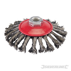 Brosse à fils d'acier torsadés 115 mm