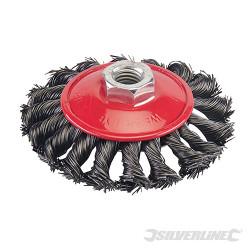 Brosse à fils d'acier torsadés 100 mm