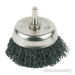 Brosse boisseau à fils d'acier ondulés 50 mm