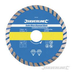 Disque diamant à tronçonner Turbo Wave 115 x 22,23 mm à bordure continue crénelée