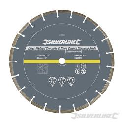 Disque diamant soudé au laser à tronçonner le béton et la pierre 300 x 20 mm à bordure segmentée