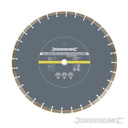 Disque diamant soudé au laser à tronçonner le béton et la pierre 450 x 25,4 mm à bordure segmentée