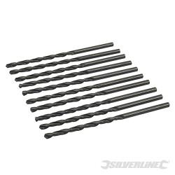 10 mèches métriques longues en acier rapide HSS-R 5,5 x 139 mm