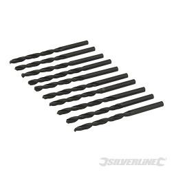 10 mèches métriques acier rapide HSS-R 4,5 mm