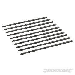 10 mèches métriques longues en acier rapide HSS-R 3,2 x 106 mm