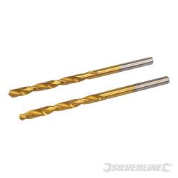 Jeu de 2 mèches en acier rapide titanées 4,0 mm