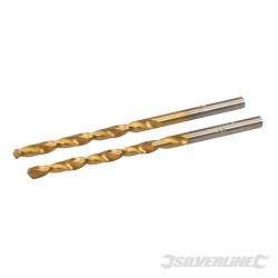 2 mèches en acier HSS titané 3,0 mm