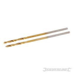 Jeu de 2 mèches en acier rapide HSS titanées 1,0 mm