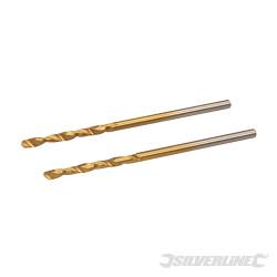 Jeu de 2 mèches en acier rapide HSS titanées 2,0 mm