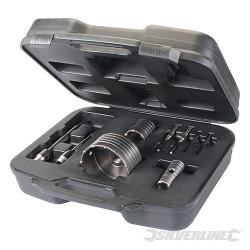 Coffret 9 scies trepan carbure de tungstène 30, 50 et 110 mm