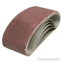 5 bandes abrasives 75 x 457 mm Grain 40
