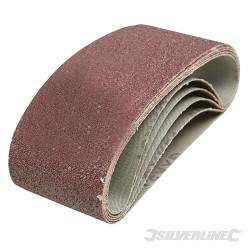5 bandes abrasives 75 x 457 mm Grain 40
