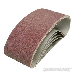 5 bandes abrasives 75 x 457 mm Grain 60