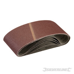 5 bandes abrasives 100 x 610 mm Grain 60