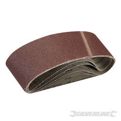 5 bandes abrasives 75 x 533 mm Grain 60