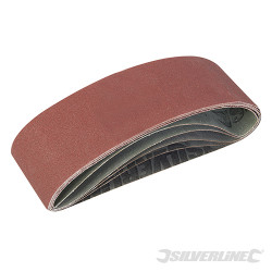 Lots de 5 bandes abrasives 75 x 533 mm Grains assortis : 40, 60, 2 x 80 et 120