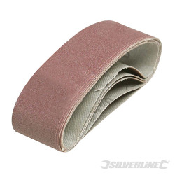 5 bandes abrasives 40 x 305 mm Grain 120