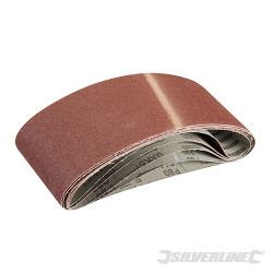 5 bandes abrasives 100 x 610 mm Grain 80