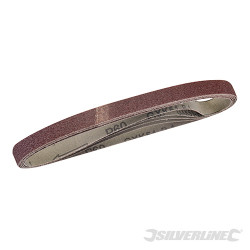 5 bandes abrasives 10 x 330 mm Grain 60
