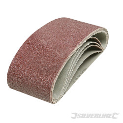 5 bandes abrasives 65 x 410 mm Grain 40
