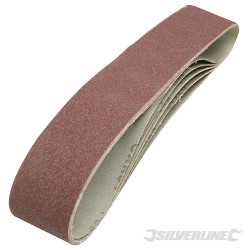 5 bandes abrasives 50 x 686 mm Grain 80