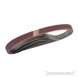 5 bandes abrasives 10 x 330 mm Grain 120