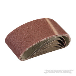 5 bandes abrasives 60 x 400 mm Grain 60