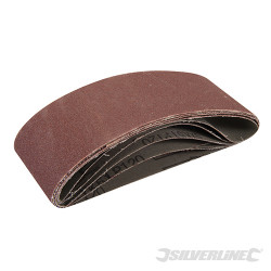 5 bandes abrasives  60 x 400 mm Grain 120