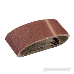 5 bandes abrasives 60 x 400 mm Grain 80