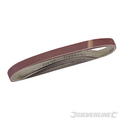 5 bandes abrasives 13 x 457 mm Grain 120