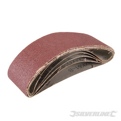 5 bandes abrasives 40 x 305 mm Grain 80
