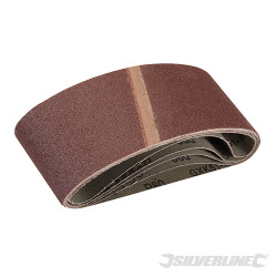 5 bandes abrasives 65 x 410 mm Grain 80