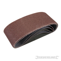 5 bandes abrasives 65 x 410 mm Grain 60