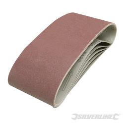 5 bandes abrasives 100 x 610 mm Grain 120