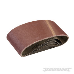 5 bandes abrasives 75 x 457 mm Grain 120