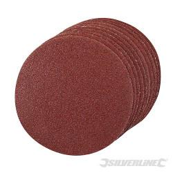 10 disques abrasifs auto-agrippants 125 mm Grain 60