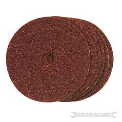 10 disques de ponçage en fibres 100 x 16 mm Grain 60