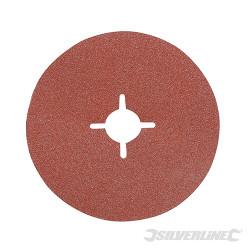 10 disques en fibre 125 x 22,23 mm Grain 60