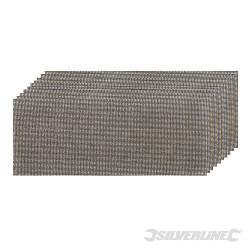 Lot de 10 feuilles abrasives treillis auto-agrippantes 115 x 230 mm Divers grains