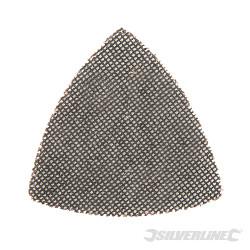 Lot de 10 triangles abrasifs treillis auto-agrippants 105 mm Grain 120
