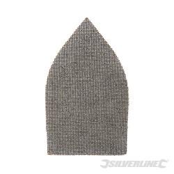 Lot de 10 triangles abrasifs treillis auto-agrippants 175 x 105 mm Grain 80