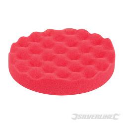 Éponge de polissage contourée auto-agrippante Ultra-douce, rouge, 150 mm