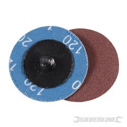 Kit 5 disques abrasifs à changement rapide 50 mm Grain 120