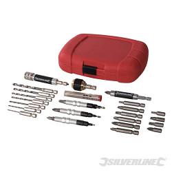 Coffret 30 pièces d'accessoires à système de serrage rapide 6,35 mm - Tige hexagonale 1/4