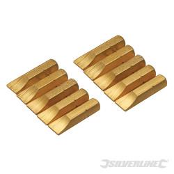 10 embouts dorés plats Embout plat 7 mm