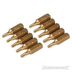 10 embouts dorés Torx T15